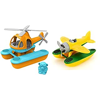 Green Toys Seacopter, Orange & Seaplane, Yellow