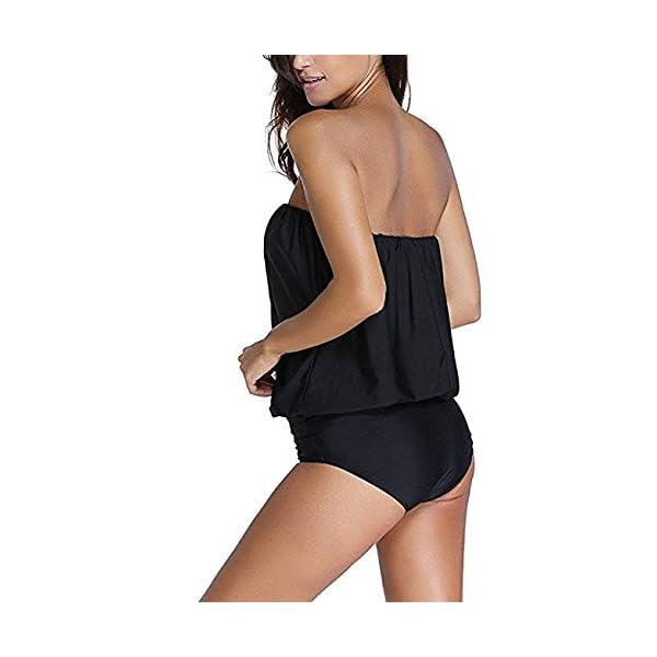 Hippolo costume da bagno da donna a pezzo unico senza spalline fasciante Black M 4 spesavip