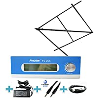 FMUSER 25W Long Range FM transmitter Set for Community Radio Station, 0-25w Radio Transmitter with High Gain Circular Polarized Antenna RF Cable for Radio Broadcast, 87-108mhz