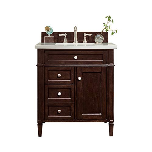 30 in. Single Sink Vanity in Burnished Mahogany Finish