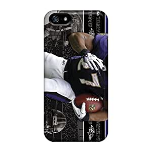 Bumper Hard Phone Case For Iphone 5/5s With Unique Design Lifelike Baltimore Ravens Pictures DrawsBriscoe