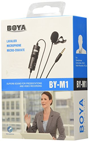 BOYA Omnidirectional Lavalier Microphone for Canon Nikon Sony,for iPhone 6 5 4S 4/DSLR Camcorder & Audio Recorders