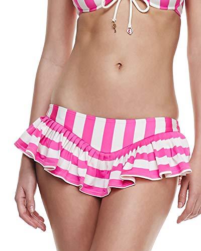 Juicy Couture Boho Stripe Underwire Skirted Bikini Swimsuit (S) ()