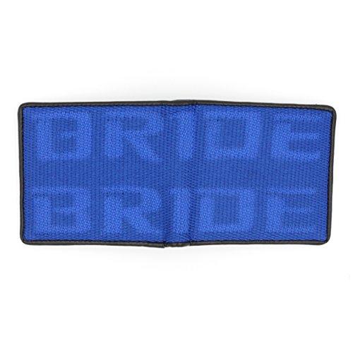 Kei Project Bride Racing Wallet Seat Fabric Leather Bi-fold Gradation - Blue Gradation