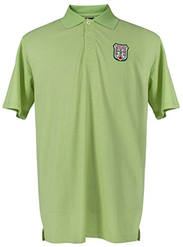 Caddyshack Embroidered Bushwood Country Club Crest Polo - Green by ReadyGOLF Large