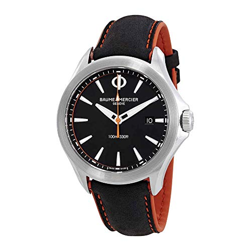 Baume et Mercier Clifton Quartz Black Dial Men's Watch 10411