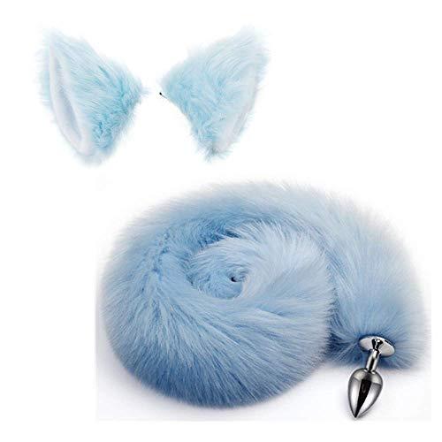 Cat Ears Headband Fox Tail B-utt an-al Pl-ùg T-o-ys para Mujeres Cosplay Costume Set