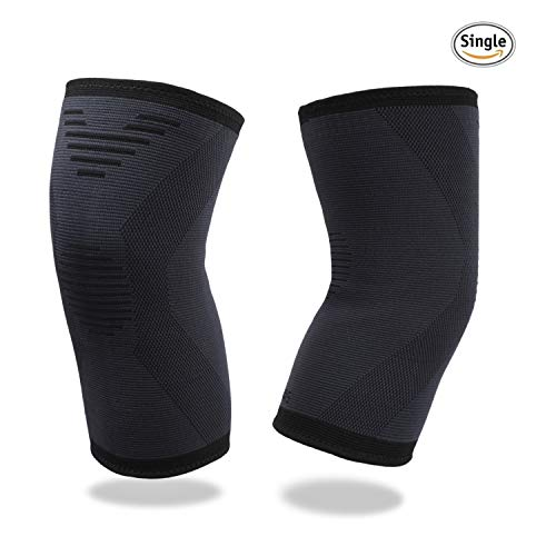 (Knee Brace Compression Sleeve Breathable Elastic 3D Knee Support Protector for Running, Jogging, Sports, FDA Registered Recovery Knee Pads for Meniscus Tear, ACL, MCL, Arthritis for Men & Women )