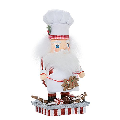 Kurt Adler Hollywood Santa Gingerbread Chef Nutcracker, 12-Inch