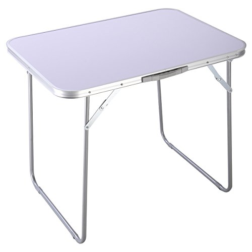 goplus portable camping table 4 person folding aluminum picnic party dining desk in outdoor. Black Bedroom Furniture Sets. Home Design Ideas
