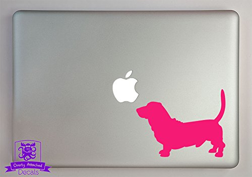 Overly Attached Decals Basset Hound Dog Vinyl Decal Sized to Fit A 15