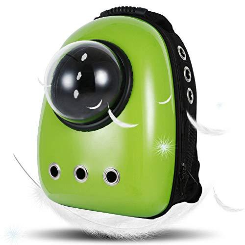 Green FidgetGear Space Capsule Bubble Pet Carrier Waterproof Handbag Backpack for Cat Small Dog Green