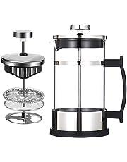 Franse pers koffiepot en theepot (600ml en 350ml) 304 roestvrijstalen koffiepers met 3 filters - geen residu - hittebestendig borosilicaatglas - gemakkelijk te reinigen