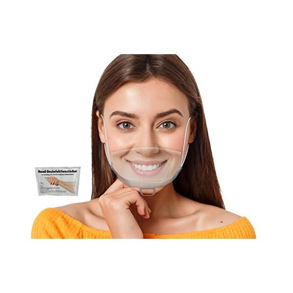 WIETRE-5-Stck-Gesichtsschutzschild-Safety-Kunststoff-Transparent-Visier-Gesichtsschutz-1-Gratis-Handreinigungstuch-Anti-Fog-Anti-l-Splash-Schutzvisier-Essen-Hygiene-Gesichtsschutzschirm