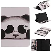 """Samsung TAB A P580 10.1"""" Case, Unique Art Painting Wallet Movie Stand Thin Cover[Money Credit ID Card Slots] TAITOU Impressive Soft PU Leather Light Tablet Coque For Samsung TAB A P580 10.1"""" Cute Panda"""