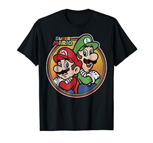 Nintendo Super Mario & Luigi Brothers Circle Graphic T-Shirt