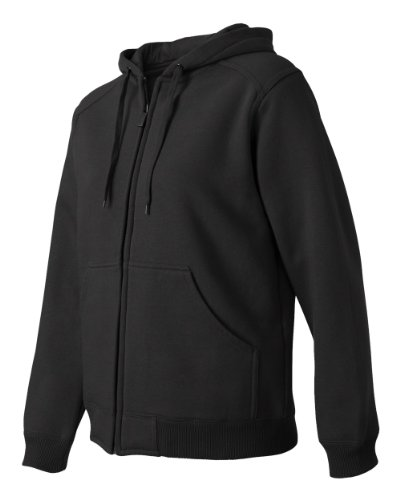 - DRI Duck Ladies' 9570 Wildfire Power Fleece Hooded Jacket Thermal Lining Zip-Up Sweatshirt (Large, Black)