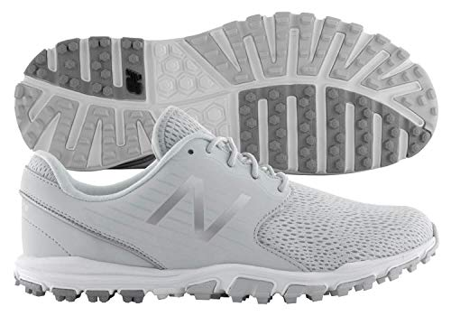 New Balance Women's Minimus SL Breathable Spikeless Comfort Golf Shoe, Light Grey, 8.5 M