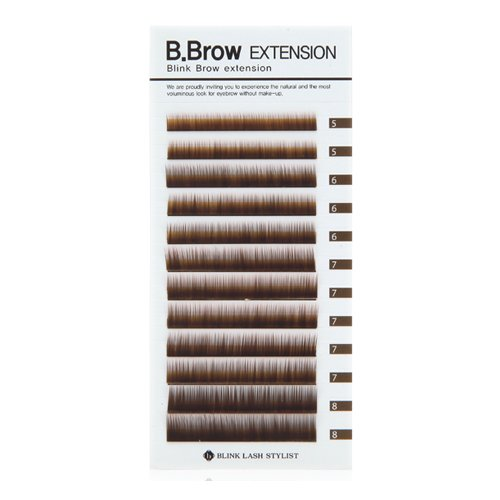 Blink B.Brow Lash Eyebrow Extension Color Brown Length 5~8 Mix