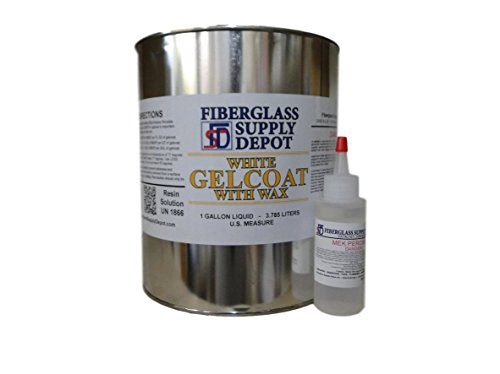 White Gelcoat with Wax - Gallon with 60cc Hardener (MEKP)