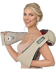 Donnerberg Shiatsu massageapparaat met warmte voor nek schouders rugmassage + TRILFUNCTIE 4D nekmassageapparaat TÜV getest 7 jaar garantie