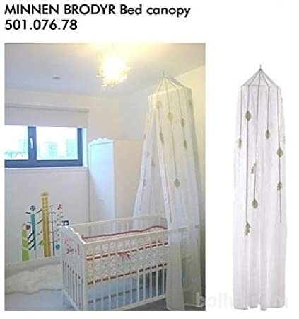 IKEA Minnen Brodyr Bed Canopy White Sheer Fabric With Great Light Transmission Kids Room