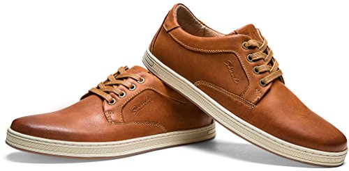 Pictures of JOUSEN Men's Casual Shoes Business Oxford Leather Classic Casual Oxford Shoes 3
