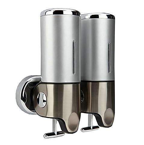 500ml Soap Dispenser Wall Mounted Bathroom Shower Shampoo Bottles (Triple Pump) (Double Pump) (Bathroom Shower Soap Dispenser)