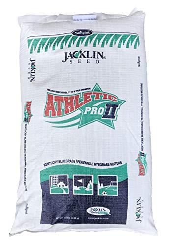 Jacklin Seed - Athletic Pro II | 50% Kentucky Bluegrass, 50% Perennial Ryegrass | Certified Grass Seed (5-50 lbs) (50 lbs (20,000 sq. ft.))
