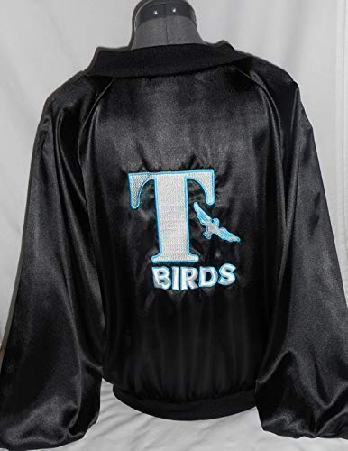 Cheap T Bird Jacket (Mens X Large Embroidered 1950's Grease Look T Bird Jacket Sock Hop Costume)