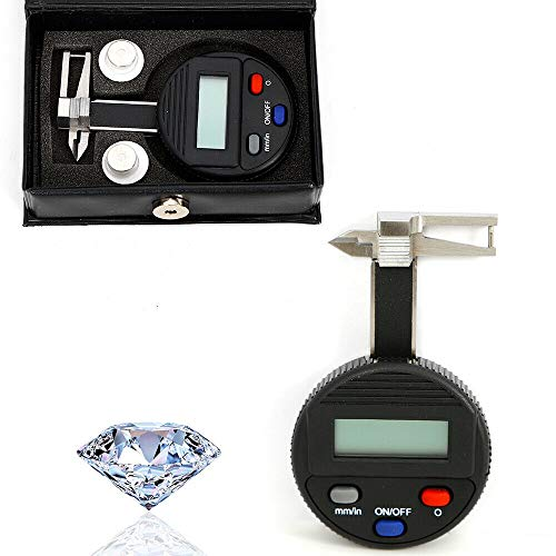 0.01mm 0-25mm Mini Digital LCD Jewel Gem Gemstone Thickness Gauge Caliper Electronic Digital display Thickness Gauge Caliper Micrometer ()