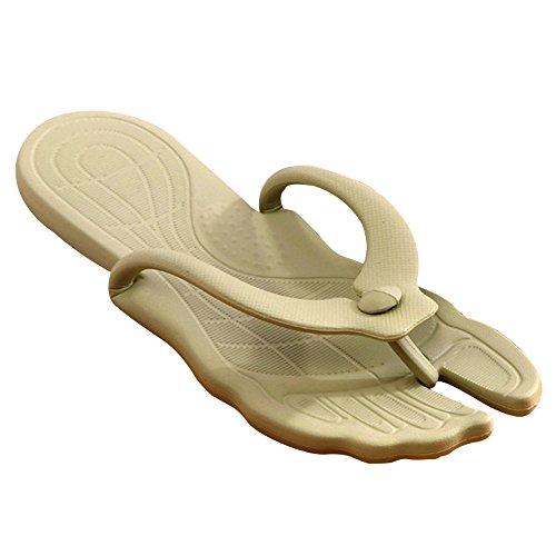 Eastlion Unisex Simple Portable Foldable Summer Flip Flops Beach Thong Slippers Green