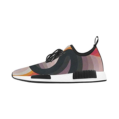 Trainer InterestPrint Draco Sneakers Pattern Orange Black Men And Geometric Running Shoes Fitness qCnzw6fqF