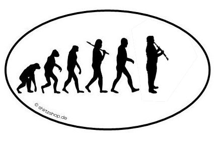 KLARINETTE BLASINSTRUMENT EVOLUTION serie 1.0 Aufkleber Autoaufkleber Sticker Vinylaufkleber Decal