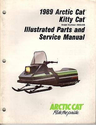 1989 ARCTIC CAT KITTY CAT PARTS & SERVICE MANUAL p/n 2254-486 (239)