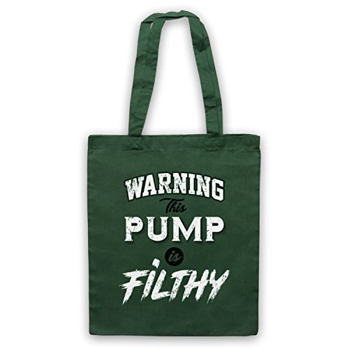 Bodybuilding d'emballage This Sac Pump Slogan Filthy Vert Fonce Workout Warning Is xI48wFF
