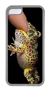 Customized Case Frogs eat finger TPU Transparent for Apple iPhone 5C