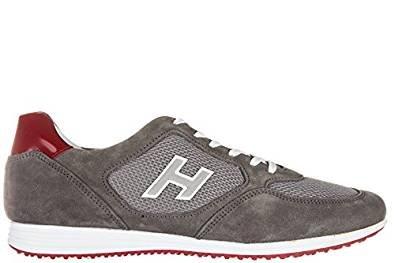 HOGAN hombre bajo HXM2050U670C5C888J zapatillas de deporte H205 OLYMPIA Grigio-Rosso