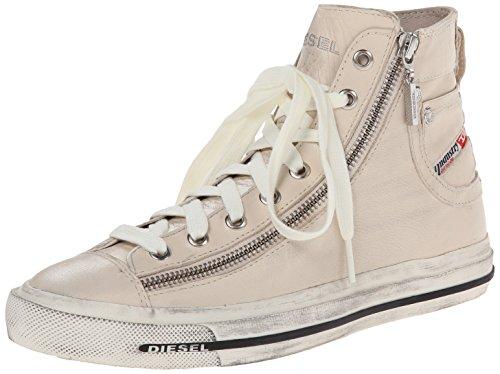 Diesel Damen Magnete Expo-Zip Hohe Sneaker Elfenbein (Birch White)