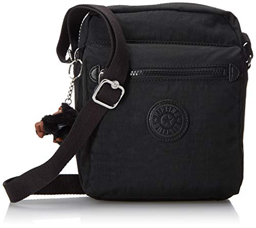 Kipling Livie Bag, Adjustable Crossbody Strap, Zip Closure, black
