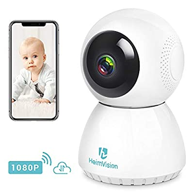 Heimvision Dome Camera 1080P HD IP Indoor Home Security Surveillance System Pan/Tilt/Zoom Wireless Security Camera with Night Vision, Motion Tracker, Auto-Cruise, Remote Monitor fo by Heimvision