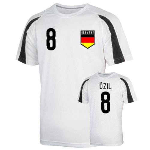 Germany Sports Training Jersey (ozil 8) B01LACMW3E Medium (38-40
