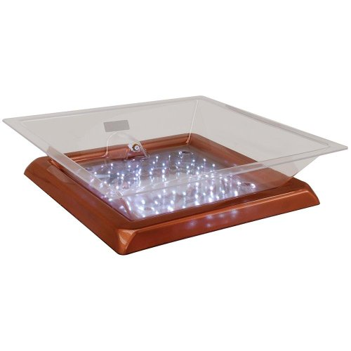 Buffet Enhancements 010LCS22LED-CP 22'' x 22'' x 4'' LED Lighted Ice Display - Copper Base by Buffet Enhancements