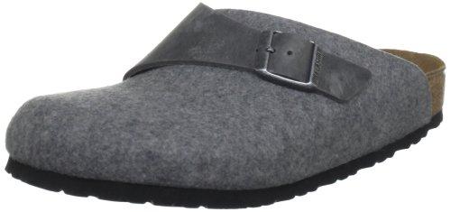 Birkenstock Basel 112103 - Zapatillas de casa de fieltro unisex Gris (Iron/Midgrey)