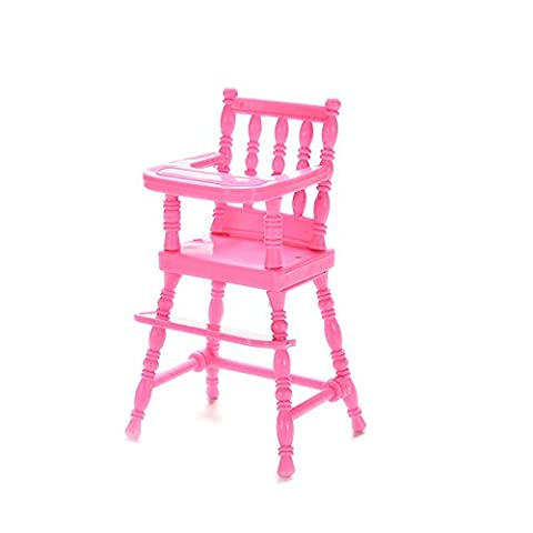 Supershopping 1 Pc Barbie Baby Plastic High Feeding Chair Dollhouse Furniture - Doll Furniture High Chair