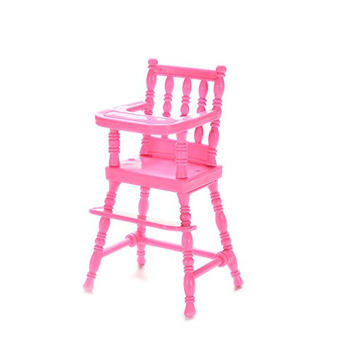 Supershopping 1 Pc Barbie Baby Plastic High Feeding Chair Dollhouse Furniture