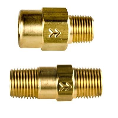 "210 Brass Check Valve 1/8""MNPT x 1/8""FNPT w/Viton 1 PSI Cracking Pressure from SMC"