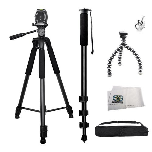 3 Piece Best Value Tripod Package For The Canon EOS Rebel...