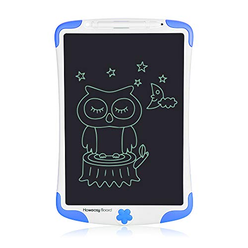 Howeasy Board LCD Writing Tablet, Electronic Handwriting Paper Drawing Doodle Board Gift for Kids & Adults at Home, School & Office - Blue (12