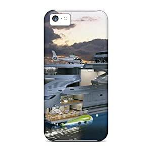 Special SKTrahan Skin Case Cover For Iphone 5c, Popular Water Clouds Ships Vehicles Yachts Phone Case